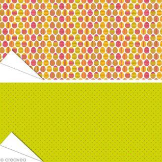 Papier Artepatch - Oeufs de Pâques et pois - 2 feuilles de 40 x 50 cm
