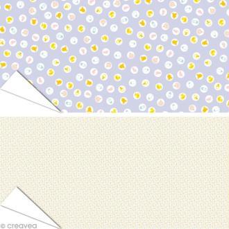 Papier Artepatch - Baby Shower et pois multicolores - 2 feuilles de 40 x 50 cm