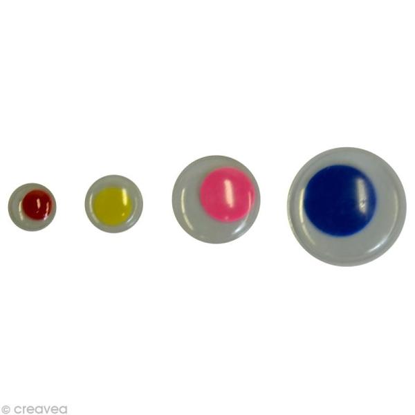 Yeux mobiles de couleur x 75 - Photo n°1