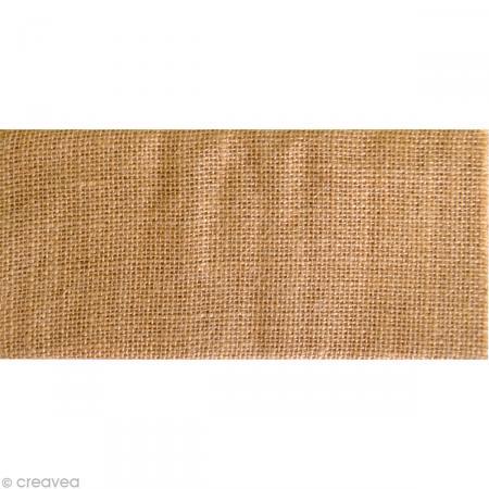 coupon de tissu en toile de jute a4 coupon de tissus creavea. Black Bedroom Furniture Sets. Home Design Ideas