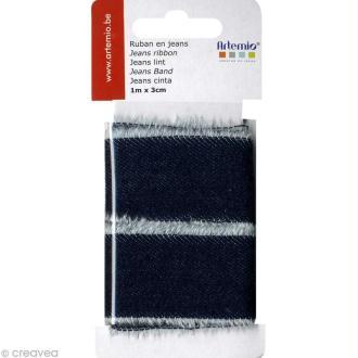 Ruban de tissu en Jeans - 3 cm x 1 m