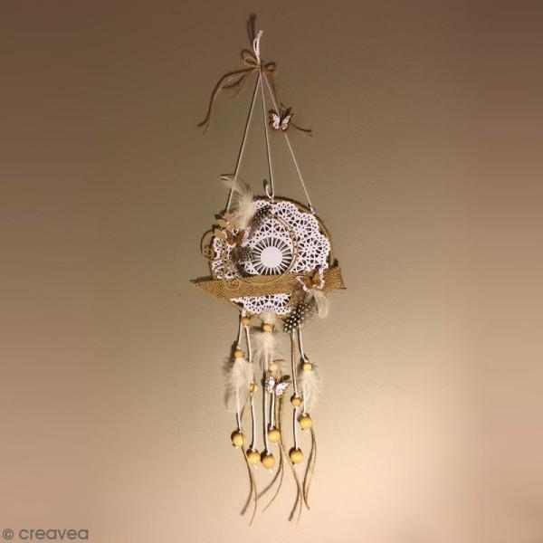 Perle en bois 25 mm x 12 - Photo n°3