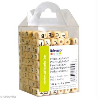 Perles Alphabet Cubes 8 mm x 312