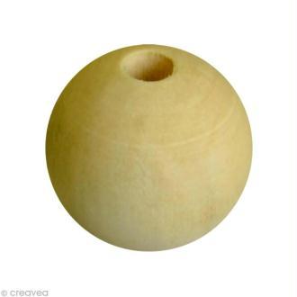 Perle en bois 30 mm x 4
