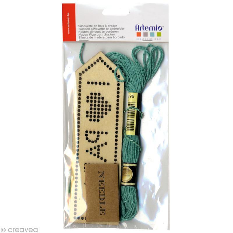 kit marque page en bois broder 14 x 4 cm i love papa kit broderie creavea. Black Bedroom Furniture Sets. Home Design Ideas