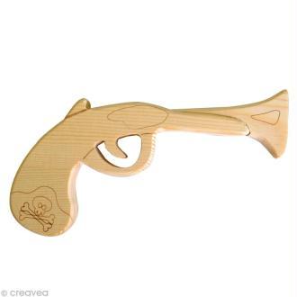 Pistolet de pirate en bois 18 cm