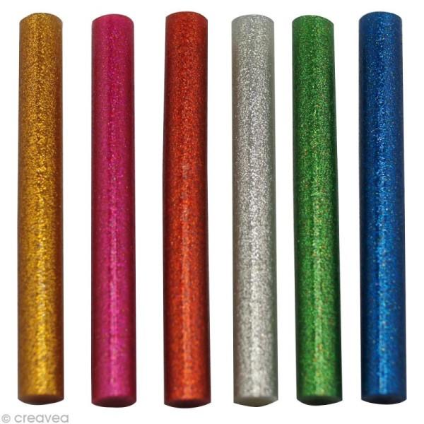 Recharge colle à paillettes pour pistolet à colle diamètre 7 mm - 6 pcs - Photo n°1
