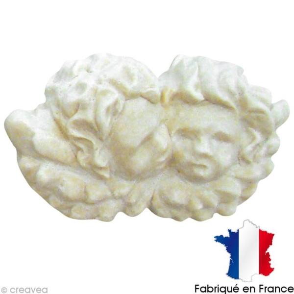 Miniature en plâtre - Duo d'anges 4 x 2,2 cm - Photo n°1