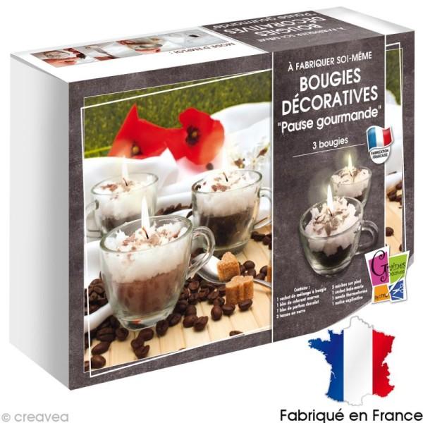 kit bougies pause gourmande jeux cr atifs de plus de 10 ans creavea. Black Bedroom Furniture Sets. Home Design Ideas