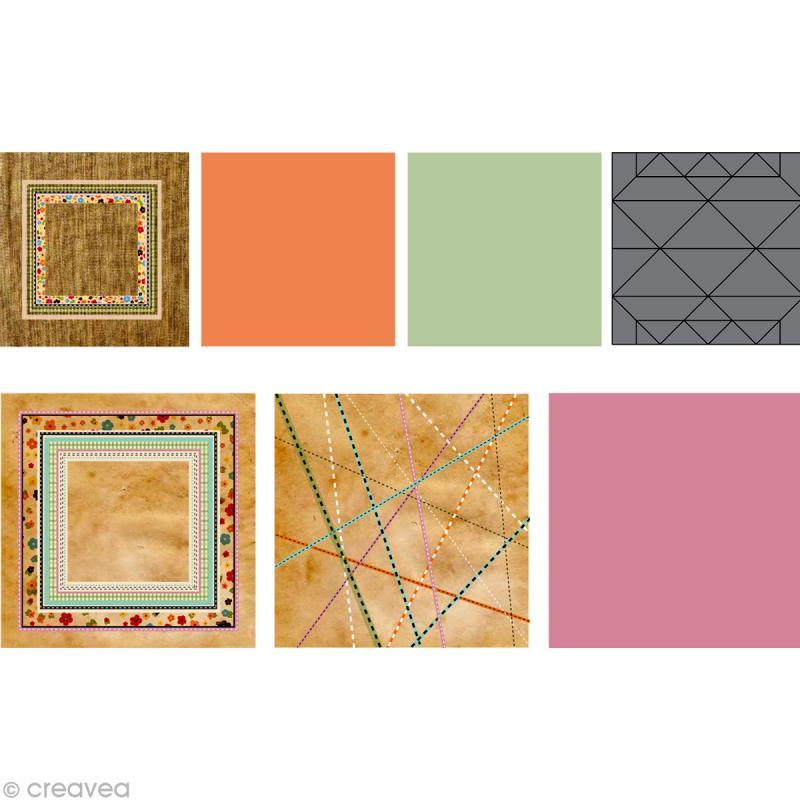 kit origami boules de no l vintage kit origami creavea. Black Bedroom Furniture Sets. Home Design Ideas