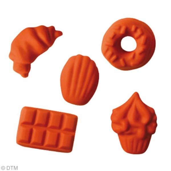 Mini moule silicone souple DTM - Gourmandises x 5 formes - Photo n°3