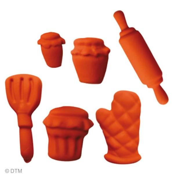 Mini moule silicone souple DTM - Cuisine x 6 formes - Photo n°2
