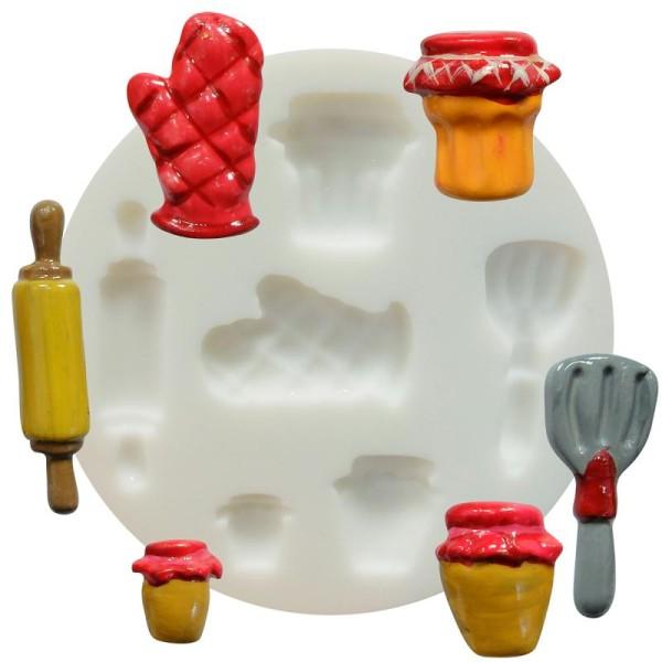 Mini moule silicone souple DTM - Cuisine x 6 formes - Photo n°1