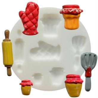 Mini moule silicone souple DTM - Cuisine x 6 formes