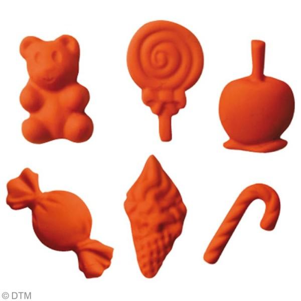 Mini moule silicone souple DTM - Bonbons x 6 formes - Photo n°2