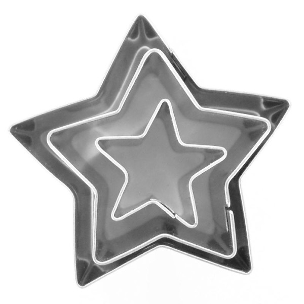 Emporte pièce inox pour modelage Etoile x 3 - Photo n°1