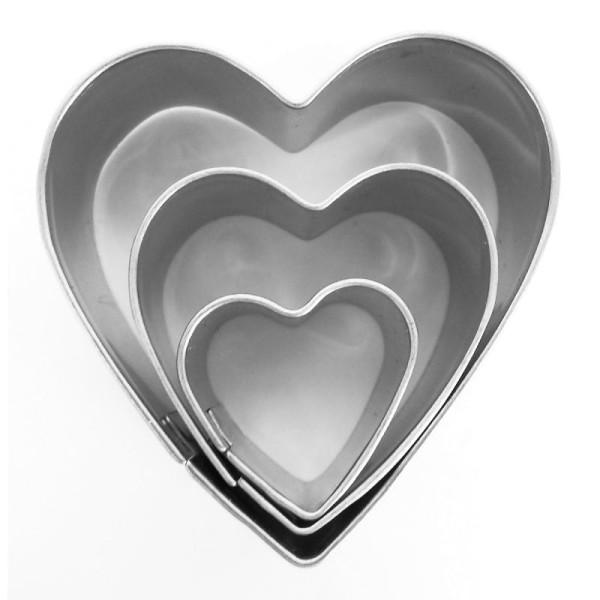 Emporte pièce inox pour modelage Coeur x 3 - Photo n°1