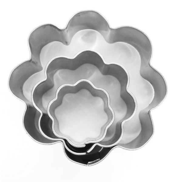 Emporte pièce inox pour modelage Fleur x 3 - Photo n°1