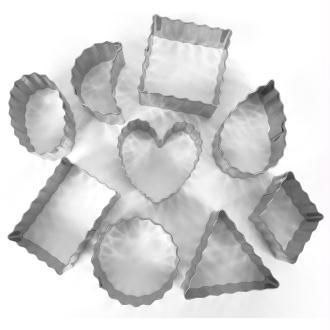 Emporte pièce inox pour modelage Contours ondulés x 9