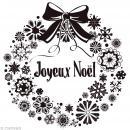 Tampon Noël - Couronne Joyeux Noël - 9,4 x 9 cm