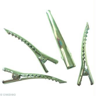 Pinces métal pour cheveux - 45 x 6 mm - 8 pcs