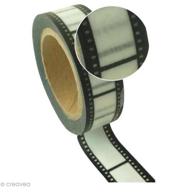 Ruban adhésif décoratif - Bande film -15 mm x 10 m - Photo n°1