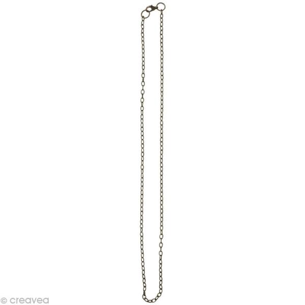 Chaine sautoir Bronze - Grosse maille 4 mm - 64 cm - Photo n°2