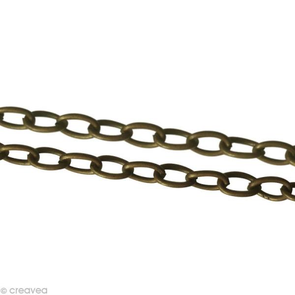Chaine sautoir Bronze - Grosse maille 4 mm - 64 cm - Photo n°1
