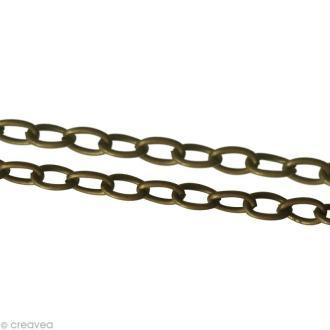 Chaine sautoir Bronze - Grosse maille 4 mm - 64 cm