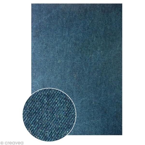 Tissu adhésif A4 - Denim Foncé - Photo n°1