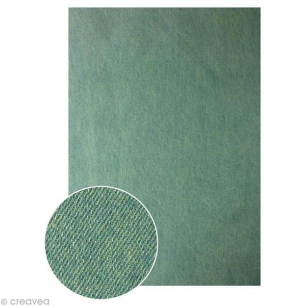 Tissu adhésif A4 - Denim Clair - Photo n°1
