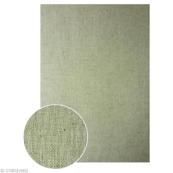 Tissu adhésif A4 - Lin - Photo n°1