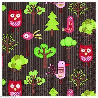 Serviette en papier Noël - CrazyForest
