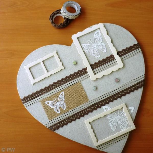 Lace tape Chocolat 17 mm x 2,5 m - Photo n°2