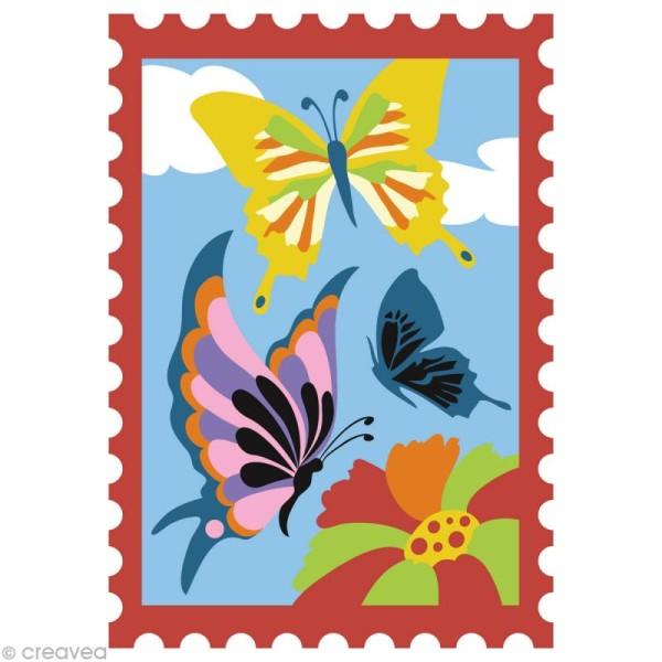Kit créatif - Cartes de sable Fleurs et Papillon - 2 cartes 21 x 15 cm - Photo n°2