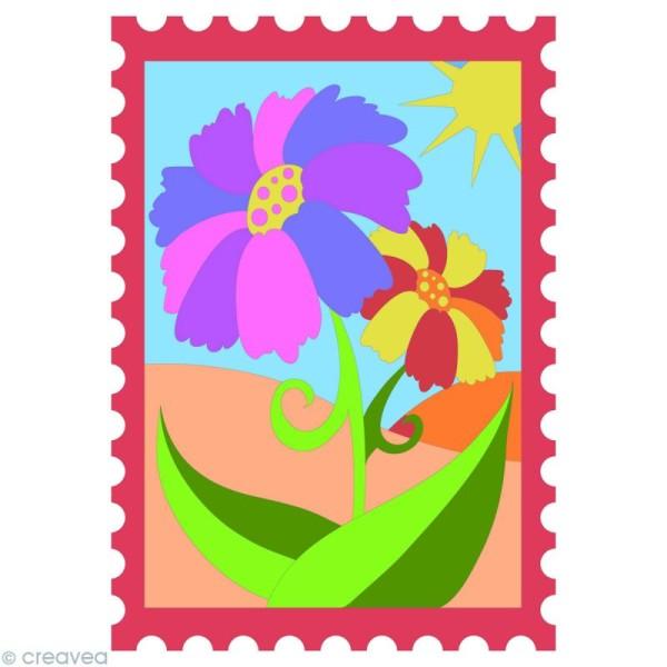 Kit créatif - Cartes de sable Fleurs et Papillon - 2 cartes 21 x 15 cm - Photo n°3