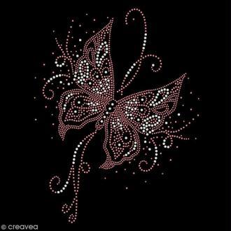 Motif thermocollant strass - Papillon - 20 x 26 cm