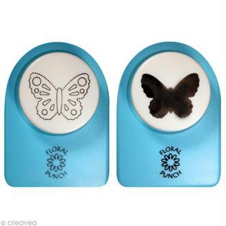 Kit perforatrice et embosseuse Floral punch - Papillon moyen