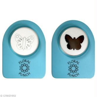 Kit perforatrice et embosseuse Floral punch - Petit papillon