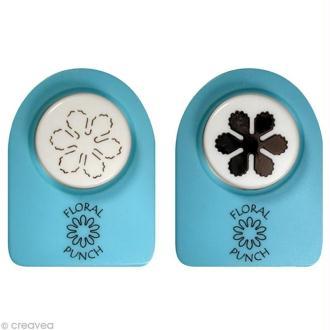 Kit perforatrice et embosseuse Floral punch - Petite fleur 1