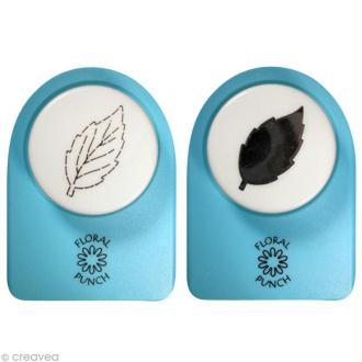 Kit perforatrice et embosseuse Floral punch - Feuille de fleur moyenne