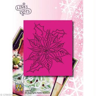 Grille Pergamano Nellie Snellen - Grande fleur de Noël 11 x 9 cm