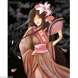 Image 3D Femme - Lilou secret garden 24 x 30 cm