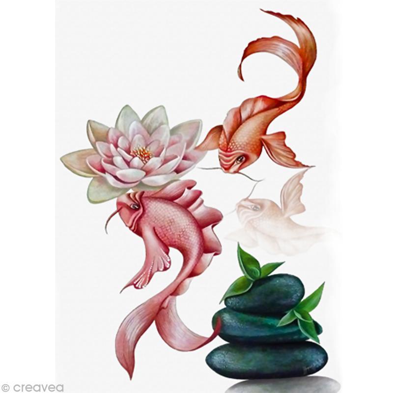 Image 3d animaux 2 carpes koi 24 x 30 cm images 3d for Vente carpe koi