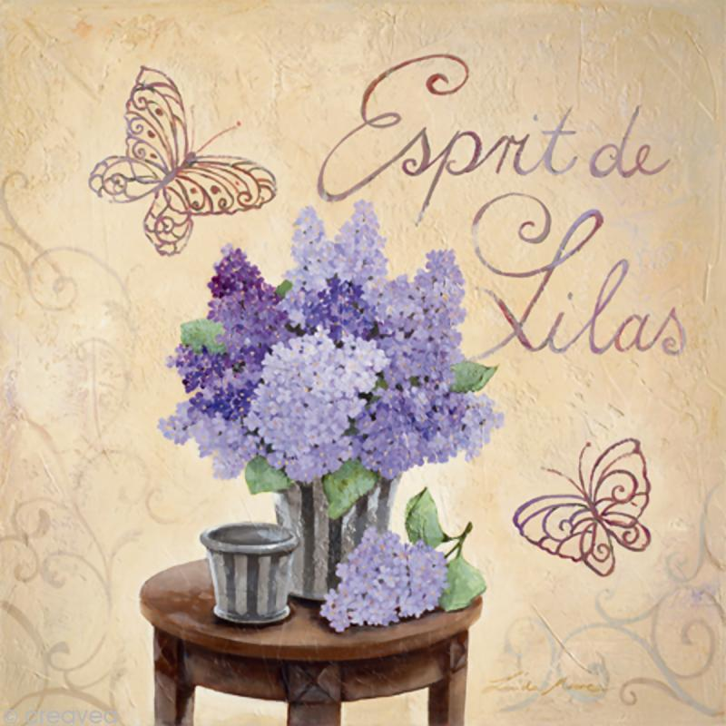 Image 3D Fleur - Esprit de lilas 30 x 30 cm - Photo n°1