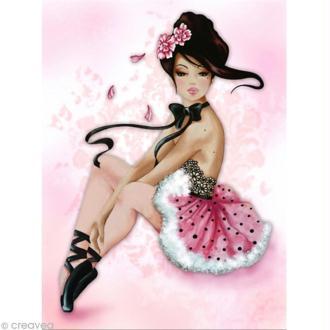 Image 3D Femme - Lilou danseuse 30 x 40 cm