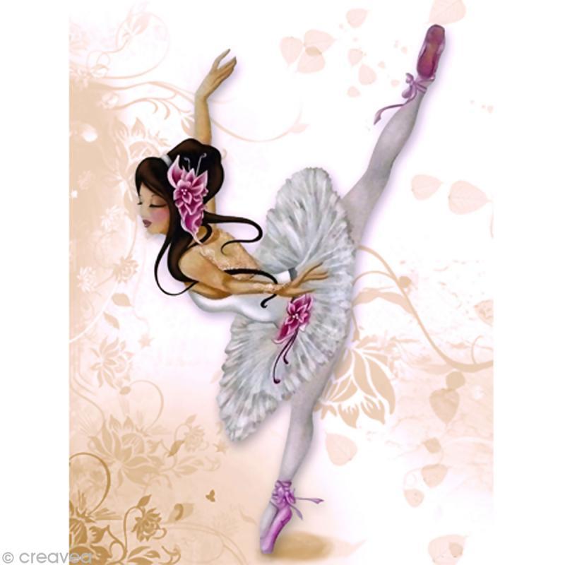 Image 3D Femme - Lilou ballerine 30 x 40 cm - Photo n°1