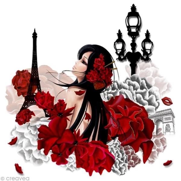 Image 3D Femme - Lilou Paris 40 x 40 cm - Photo n°1