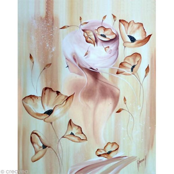Image 3D Femme - Lilou or poudré 40 x 50 cm - Photo n°1
