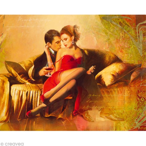 Image 3D Retro - Couple glamour 40 x 50 cm - Photo n°1
